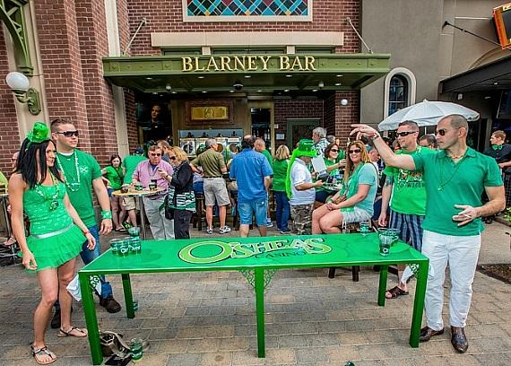Party goers battle it out over beer pong at O'Sheas BLOQ Party at The LINQ