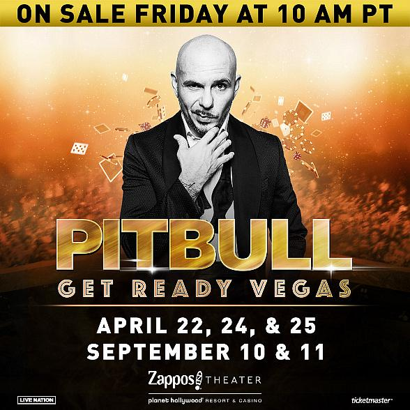 Pitbull Returns to Zappos Theater at Planet Hollywood Resort & Casino in 2020 With New Las Vegas Residency