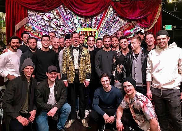 The Pittsburgh Penguins Attend ABSINTHE at Caesars Palace in Las Vegas
