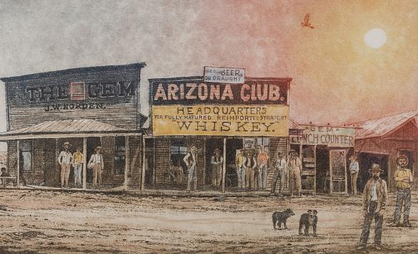 """""""Vegas Valley Memories: The Art of Roy Purcell"""" Exhibit Opens August 3 at Springs Preserve"""