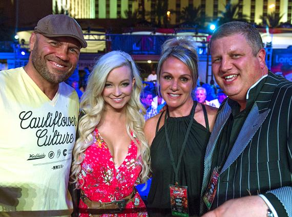 Randy Couture and Mindy Robinson with Derek Stevens and wife Nicole Parthum