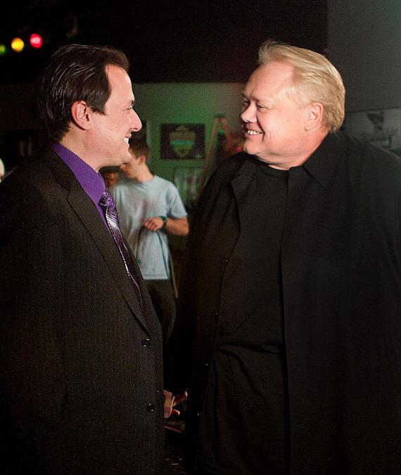 Producer Angelo Giordano and Louie Anderson