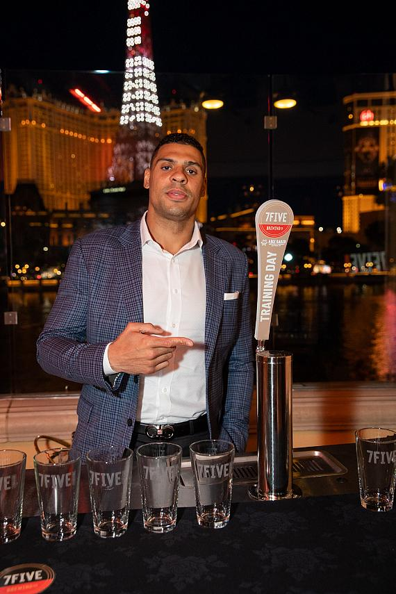 Ryan Reaves introduces Training Day golden ale - the launch of 7Five Brewing Co. at Hyde Bellagio in Las Vegas