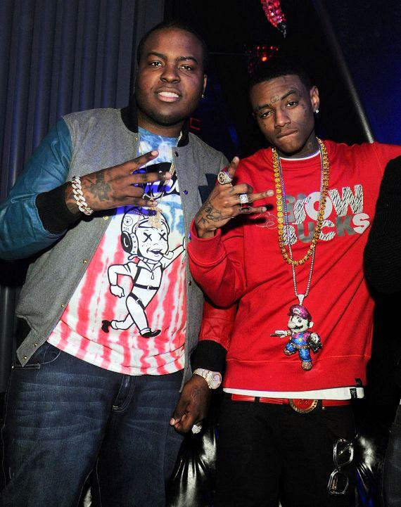 Sean Kingston and Soulja Boy at Chateau Nightclub & Gardens in Las Vegas