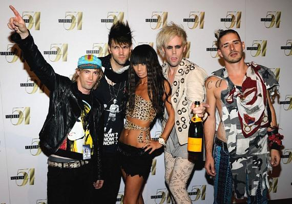 Semi Precious Weapons and Bai Ling on Red Carpet at Studio 54