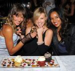 """Blue Crush 2"" actress Sharni Vinson helps co-stars Sasha Jackson and Elizabeth Vinson celebrate their birthday at Sugar Factory American Brasserie"
