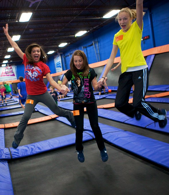 "Sky Zone ""Socks"" Cancer During Breast Cancer Awareness Month"
