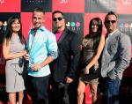 The Sorrentino family supporting Mike on the red carpet at his Couture Pop launch at Sugar Factory