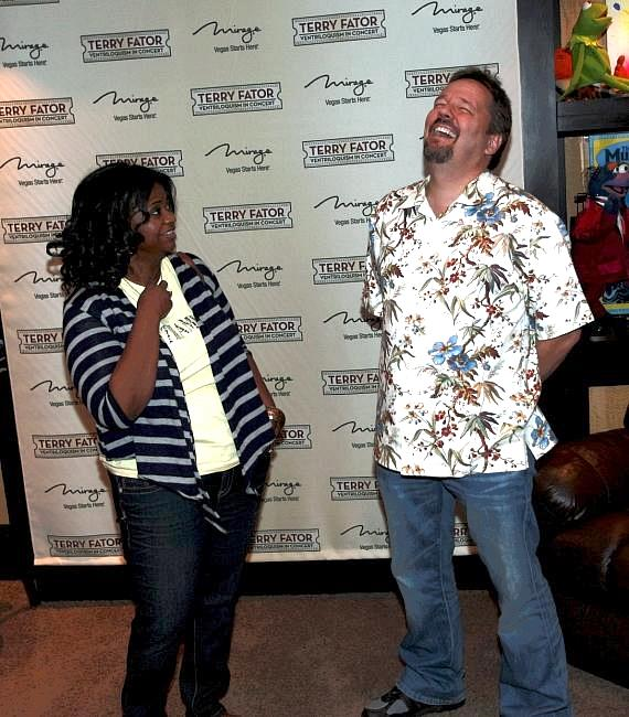 """Octavia Spencer and Terry Fator backstage at """"Terry Fator: Ventriloquism in Concert"""""""