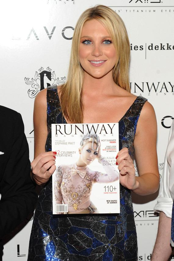 Stephanie Pratt with her Runway Magazine cover at LAVO
