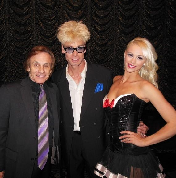 Actor Steve Railsback with Murray SawChuck and Chloe Crawford