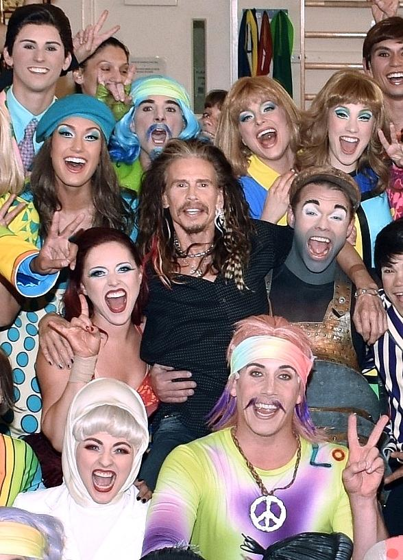 """Steven Tyler Spotted at """"The Beatles LOVE by Cirque du Soleil"""" at The Mirage Hotel & Casino in Las Vegas"""