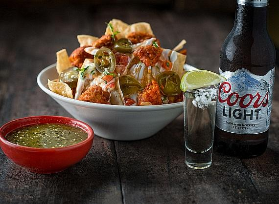 Tacos & Tequila Special Combo: Buffalo Chicken Nachos, Shot of Hornitos Reposado and a Coors Light