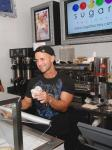 """Mike """"The Situation"""" Sorrentino scoops up Sugar Factory's gelato and serves it to his fans"""