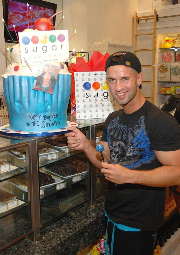 "Jersey Shore's Mike ""The Situation"" Sorrentino at Sugar Factory in Las Vegas"