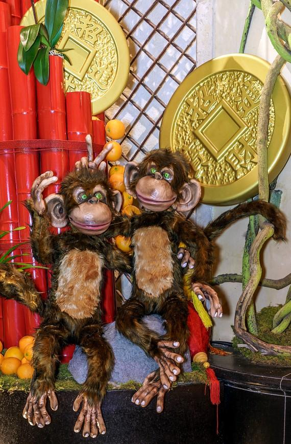 There are 78 mischievous monkeys throughout The Venetian and The Palazzo