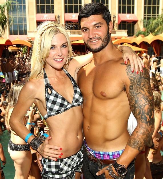 Tinsley Mortimer and Brian Mazza at TAO Beach