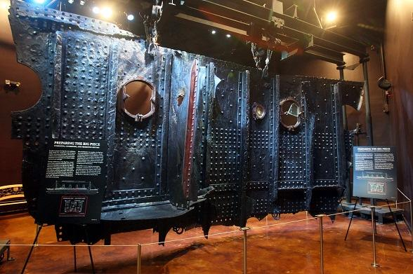 """Titanic's Largest Recovered Artifact """"The Big Piece"""" at Titanic: The Artifact Exhibition"""