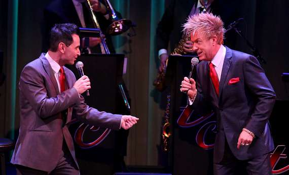 """Travis Cloer and Chris Phillips perform in """"Christmas at My Place"""""""