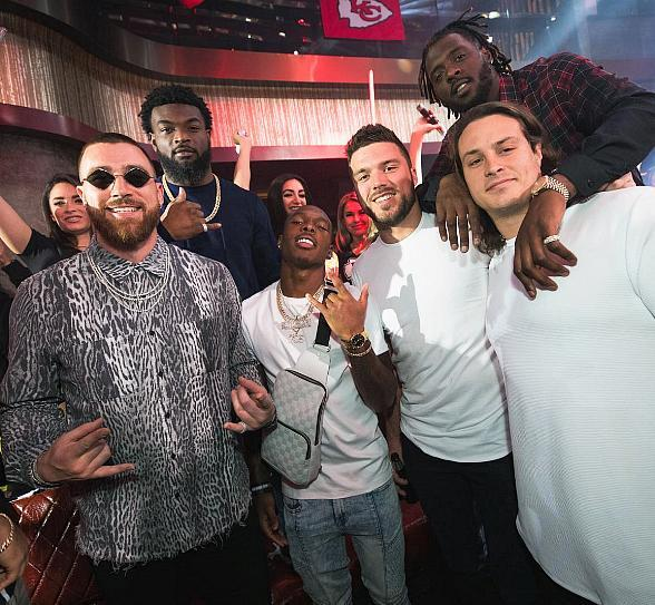 Kansas City Chiefs Celebrate the Big Game Win All Weekend Long in Las Vegas