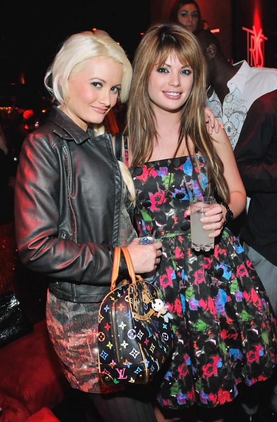 Holly Madison and Laura Croft at Tryst Nightclub in Las Vegas