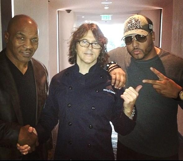 Former Heavyweight Champ Mike Tyson and Al B. Sure Dine at Simon Restaurant