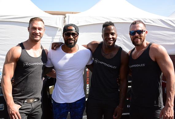 Tyson Beckford and Chippendales cast members make an appearance