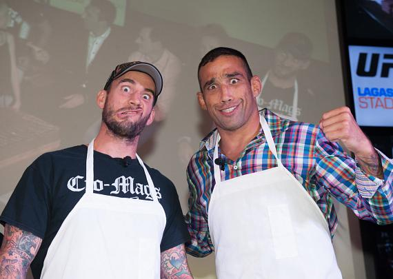 UFC fighters CM Punk and Luke Rockhold at Lagasse's Stadium at The Palazzo Las Vegas