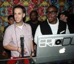 DJ Eric Dlux and Reggie Bush