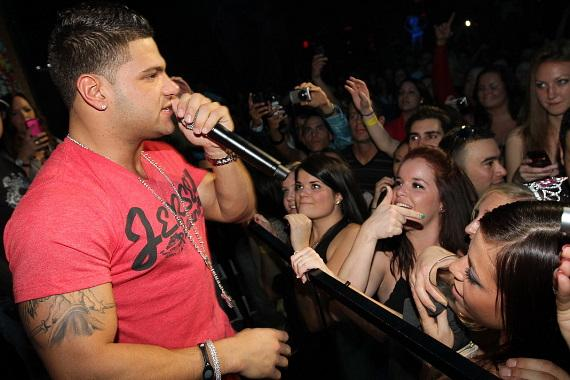 DJ Ryan Wellman with Jersey Shore's Ronnie Ortiz-Magro at Vanity in Hard Rock Hotel