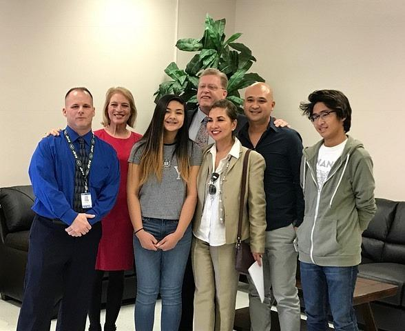 Student Caitlyn Gaddi's Letter Wins New Furnishings for Teachers' Lounge at Walter Johnson Junior High School for Walker Furniture's 17th Annual 'Teacher Appreciation Day'