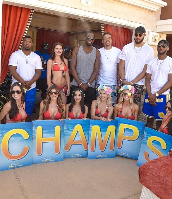Victoria Secret Supermodels, Golden State Warriors, Kevin de Bruyne and more Party at Encore Beach Club in Las Vegas