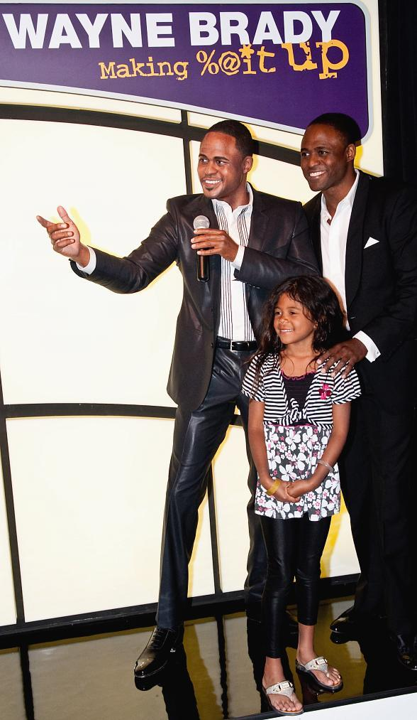 Wayne Brady and Daughter, Maile Brady at Brady's Wax Figure Unveiling at Madame Tussauds Las Vegas