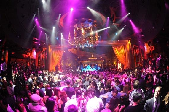 Afrojack and the crowd at XS