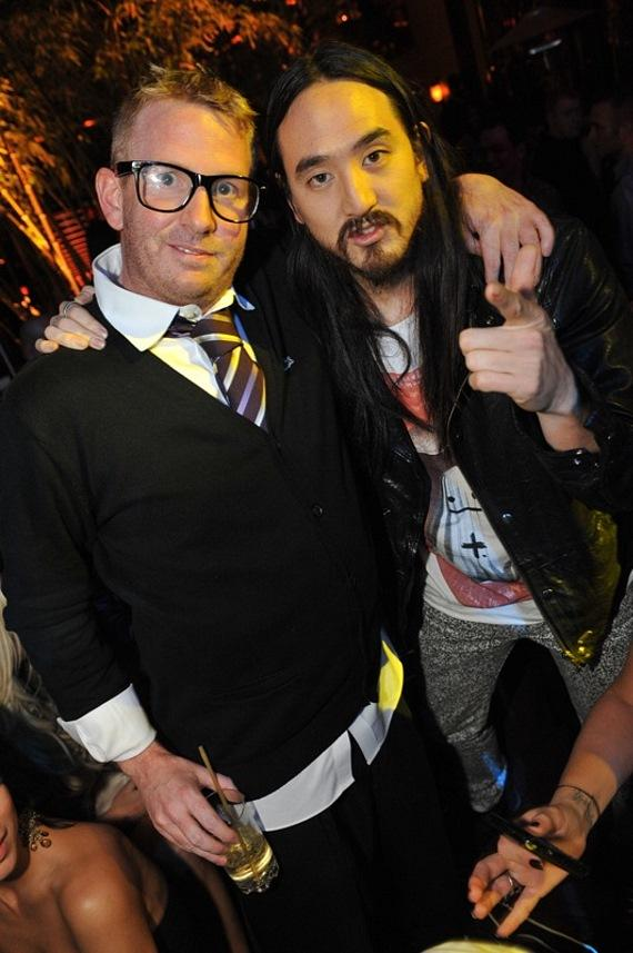 Brad Roulier and Steve Aoki at XS