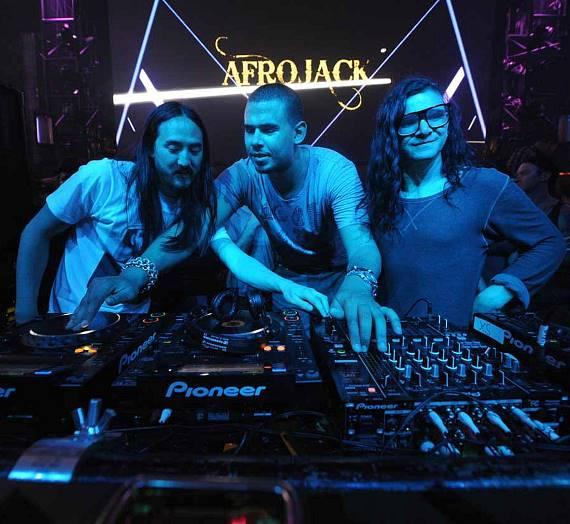 Aoki, Afrojack and Skrillex at XS Nightclub