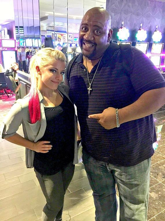 """See what happened when WWE female superstars Becky Lynch and Alexa Bliss avoided a """"Smackdown"""" at the D Casino Hotel Las Vegas"""