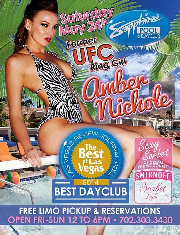 Meet Former UFC Ring Girl Amber Nichole at Sapphire Pool & Day Club in Las Vegas Friday, May 24