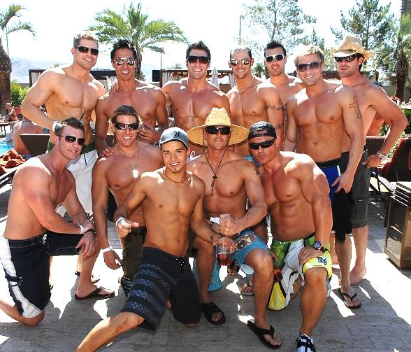 The cast of Chippendales at Daydream Pool Club at M Resort