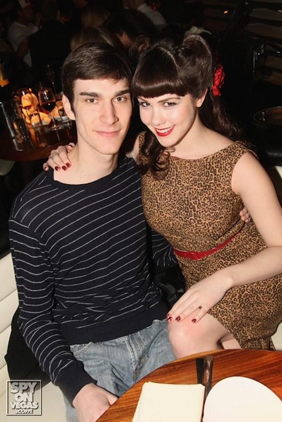 Claire Sinclair, Miss October 2010 Playboy Playmate and Marston Hefner mix with celebrities on the first Magnum Monday