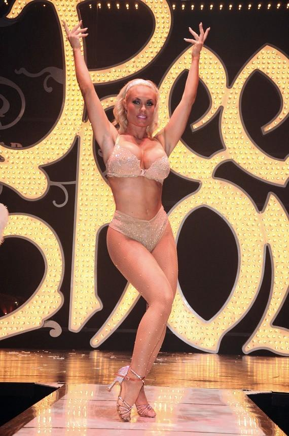 Coco Austin on stage in Peepshow