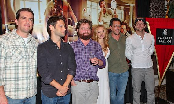The cast and director of 'The Hangover' at Caesars Palace