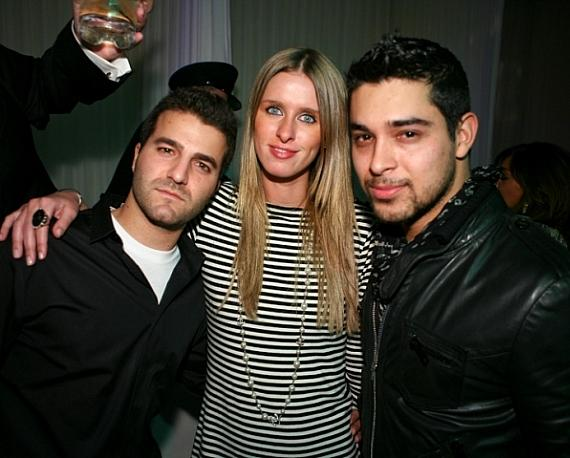 David Katzenberg, Nicky Hilton and Wilmer Valderrama at PURE
