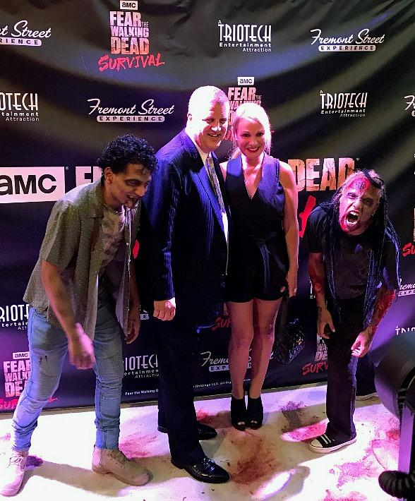 """Stars Grace Fremont Street Experience During """"Fear the Walking Dead: Survival"""" Grand Opening"""