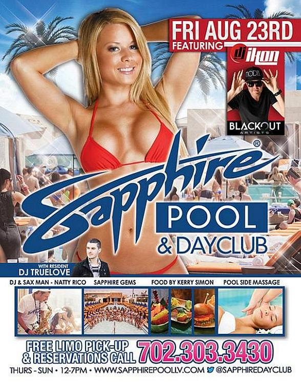 DJ Ikon, DJ Truelove and DJ Casanova to Spin at Sapphire Pool & Dayclub Friday, August 23