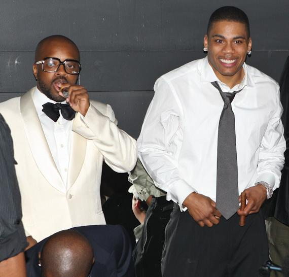 Jermaine Dupri and Nelly at Body English