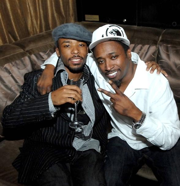 Comedian Eddie Griffin and family member at Blush