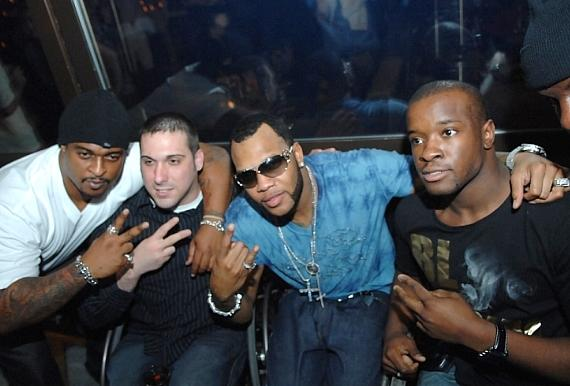 Flo Rida and friends at Blush