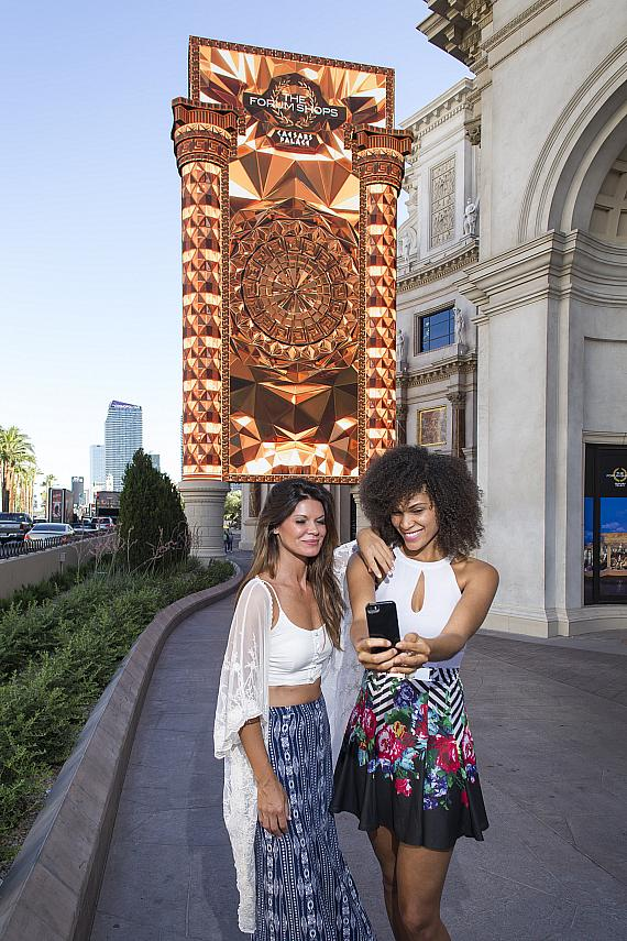 The Forum Shops at Caesars Palace Debuts New 85-Foot Digital Marquee on the Famous Las Vegas Strip
