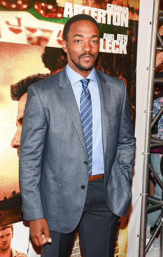 Anthony Mackie at Runner Runner premiere at Planet Hollywood in Las Vegas
